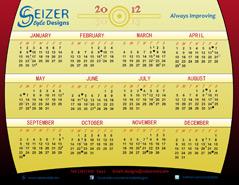 2012 Calendar Curtain Call
