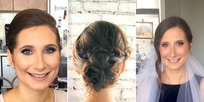 i tried 5 wedding hair and makeup trials, and here's what