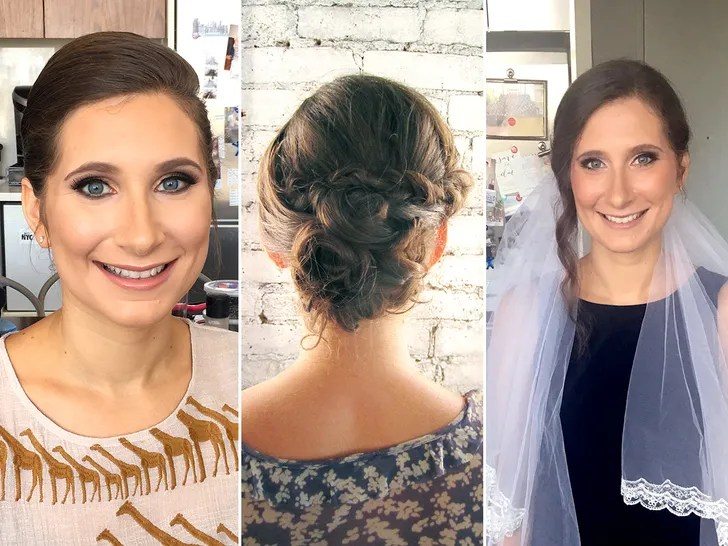 i tried 5 different wedding hair and makeup trials and here s what every bride needs to know