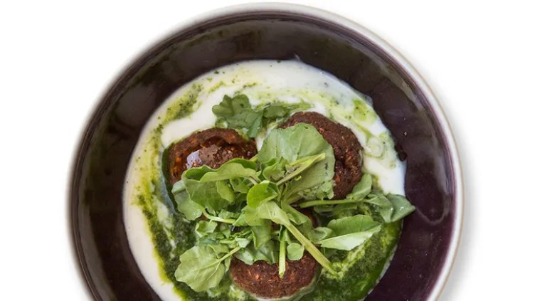 Lentil Croquettes With Watercress and Kefir from Bon Appétit