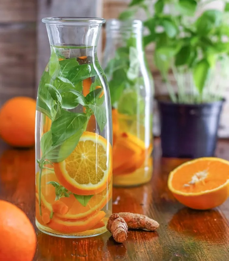Orange-Basil Infused Water from Happy Foods Tube