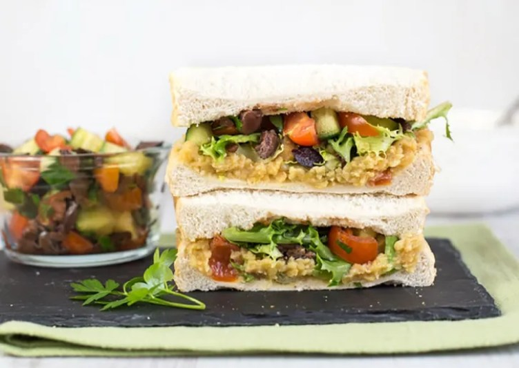 Sandwich With Red Lentil Spread from Easy Cheesy Vegetarian