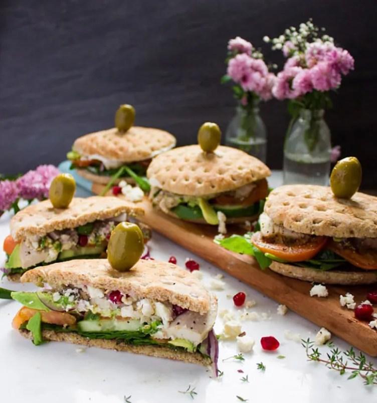 Mediterranean Turkey Sandwich from Two Purple Figs