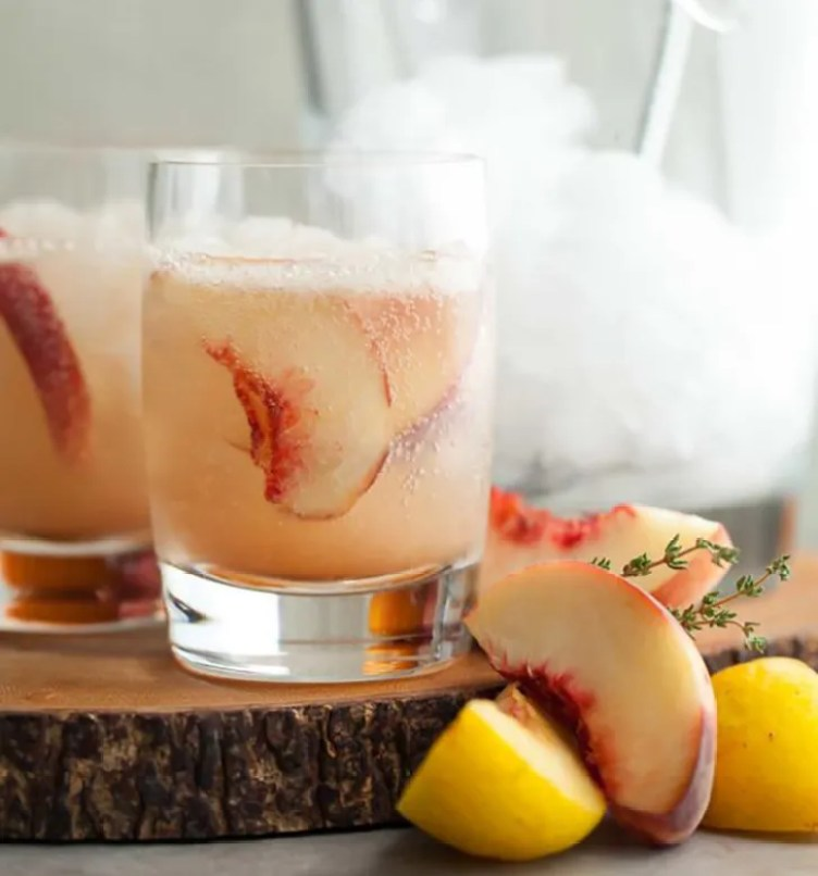 Stone Fruit Thyme Shrub Soda from Gourmande in the Kitchen