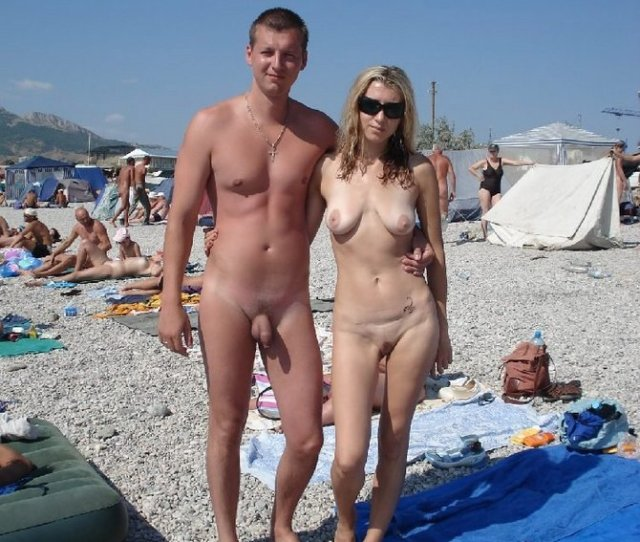 Amateur Nudists Posing At The Beach