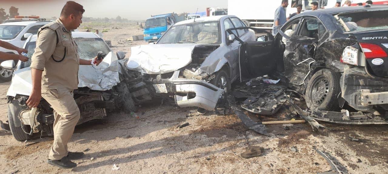 صور.. المرور تكشف تفاصيل حادث مروع بين بغداد وبابل