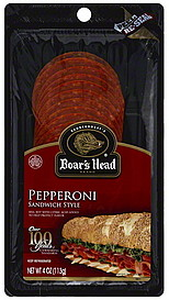 Boars Head Pepperoni Sandwich Style 40 oz Nutrition