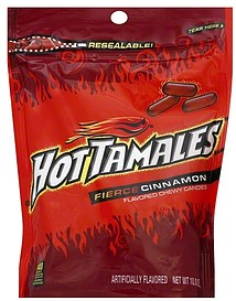 Hot Tamales Candies Chewy Fierce Cinnamon Flavored 100