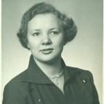 Kerstin Hedström g Wikström, foto från 1952.