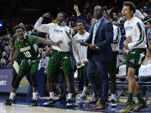 Image result for Wagner Seahawks vs. American Eagles college basketball