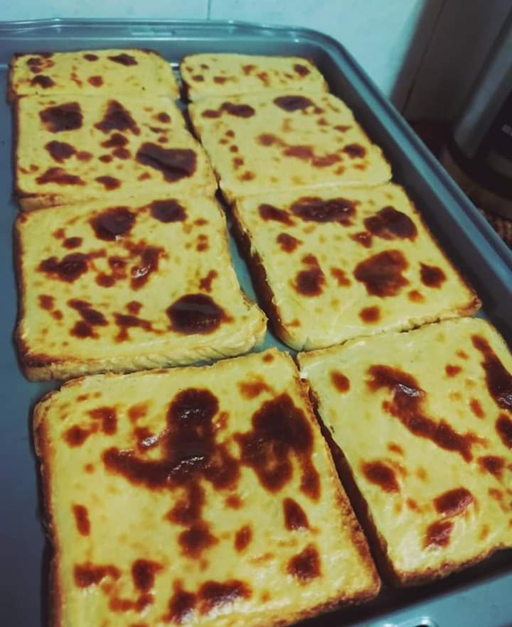 roti dengan basque burnt cheese