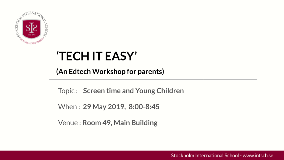 TECH IT EASY (May 29th 2019)