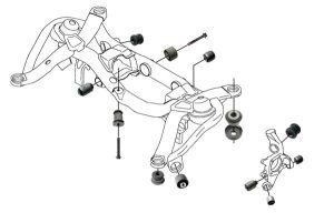 SKANDIX  Installation picture Volvo XC90 (2014): rear wheel suspension
