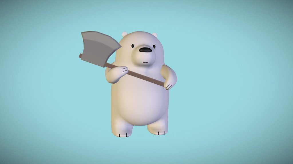 Ice Bear We Bare Bears Download Free 3d Model By