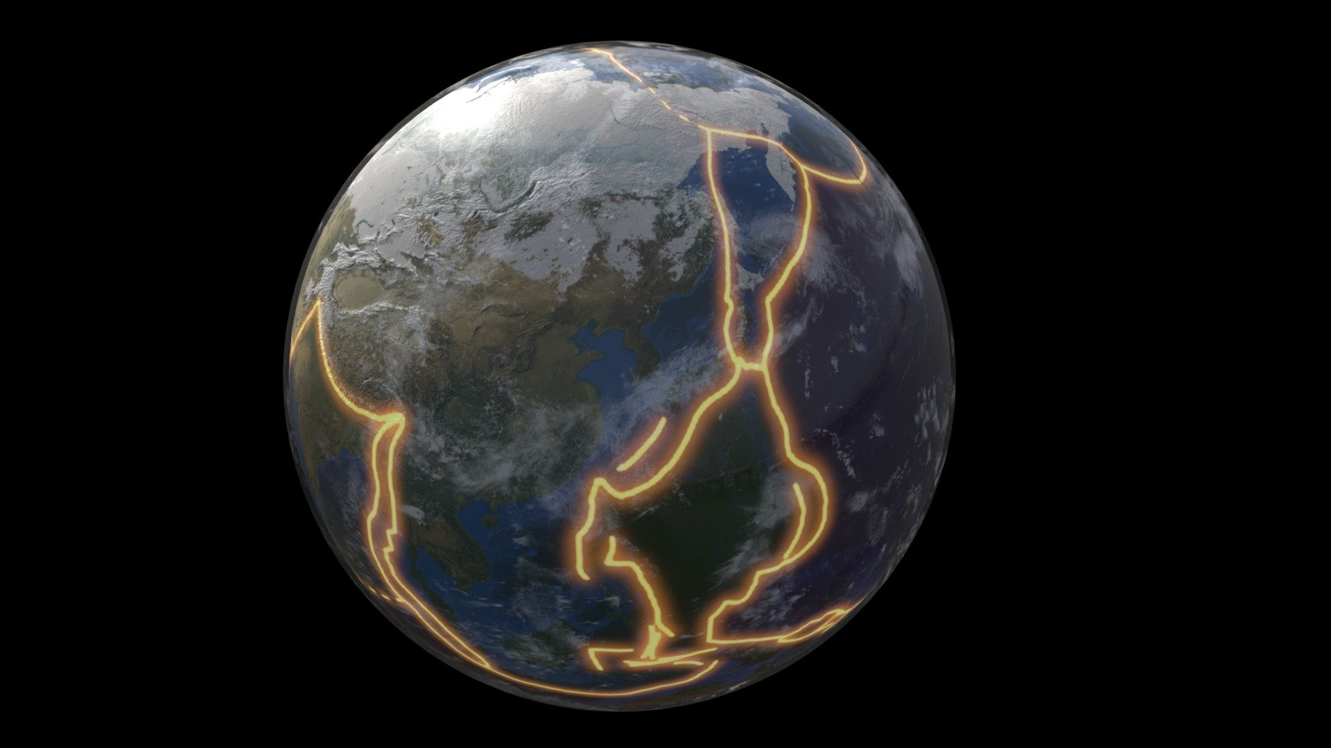 Tectonic Plates Mapped Onto The Earth S Surface