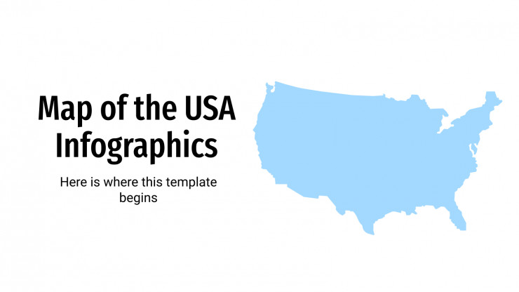 Some of the best features of google's mapping app are among the hardest to find—until you know where to look. Map Of The Usa Infographics For Google Slides And Powerpoint