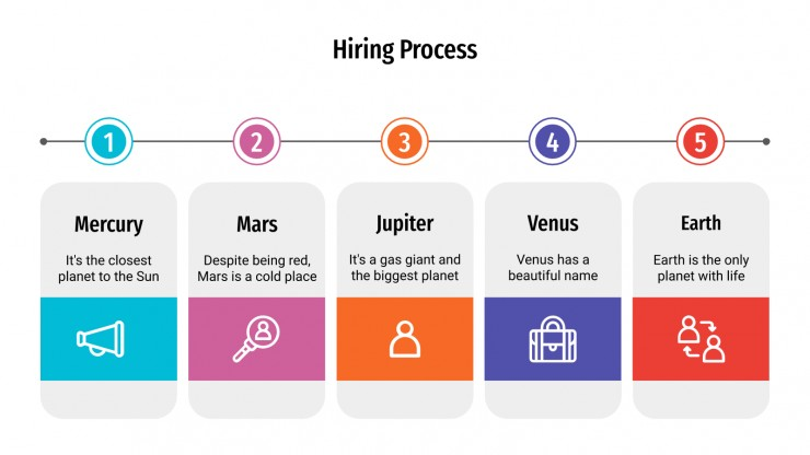 Share the final result online, post it on your website or print it. Hiring Process Infographics For Google Slides Powerpoint