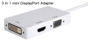 3 in 1 mini DisplayPort Adapter