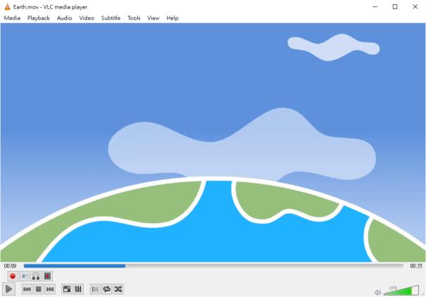 在VLC開啟影片,在所需位置按暫停