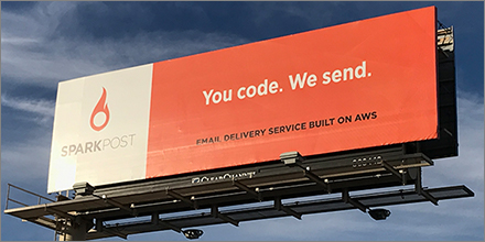 sparkpost billboard you code we send aws reinvent 2016