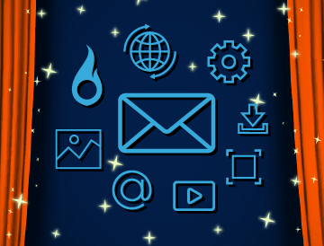 product emails blue background orange curtains 360x274
