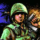 Spelpappan spelar Commando Arcade på C64