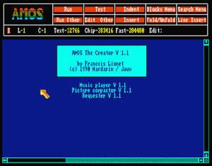 AMOS var ett Basic-språk som lämpade sig särskilt väl för spel.