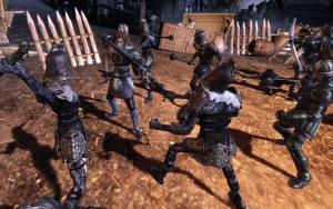 Aj då. Resvägen visade sig vara ett bakhåll som måste slås ner. Dragon Age bjuder på slumpvisa reshändelser.