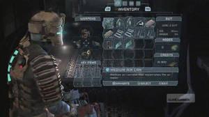Dead Space ger dig ingen ro, trots att du fäller upp inventoryskärmen och tänkte ta en liten drickapaus.