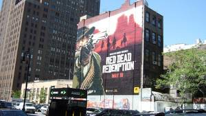 Om någon glömt när Red Dead Redemption släpps så påminner Rockstar dig. På en hel husvägg, typ.