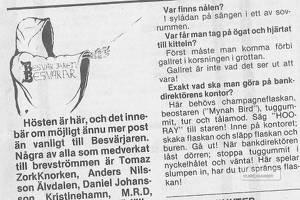 Besvärjaren Besvarar var alla äventyrs-spelares räddning innan webben fanns. Både Sten Holmberg och Göran Fröjdh fick ibland ta på sig kåpan och fundera.