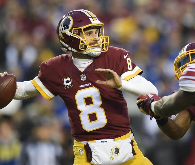 Washington Redskins Quarterback Kirk Cousins Passes During A Game Against The New York Giants Cousins