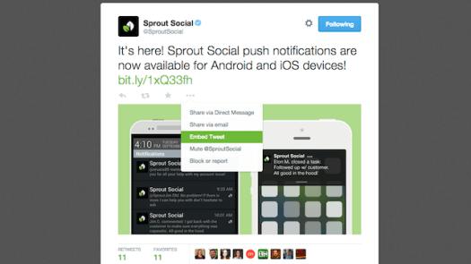 exemple de tweet intégré