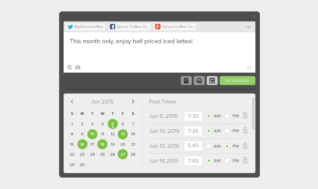Enhanced Scheduler in Sprout Social Compose