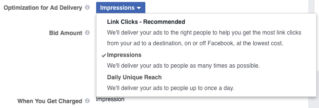 facebook ads payment options