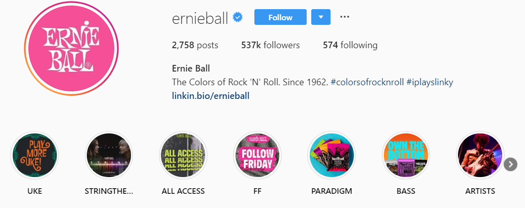 Including a branded hashtag in your bio is the first step to allowing followers to promote your Instagram