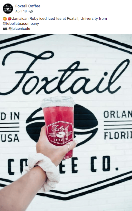 foxtail coffee facebook post