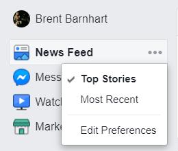 Facebook chronological feed