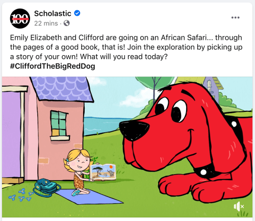 facebook post ideas - scholastic asking their audience a question