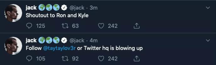 jack dorsey hacked twitter account