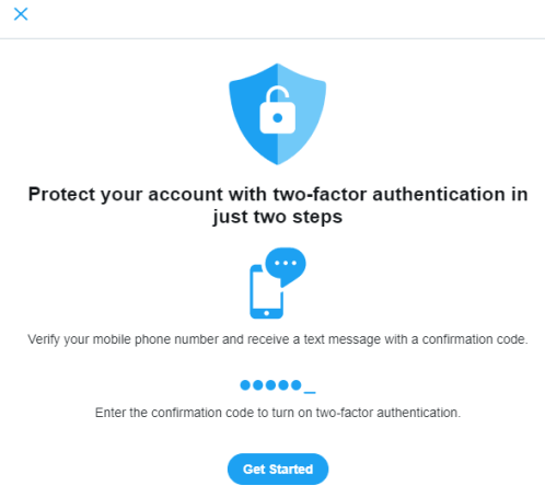 Twitter two factor authentication can help avoid any future hacks
