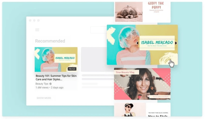 Canva YouTube thumbnail template