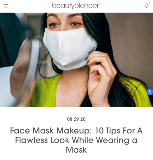 beautyblender content ideation on makeup while wearing masks