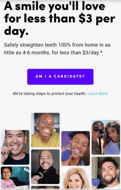 smile direct's marketing messaging centers around affordability