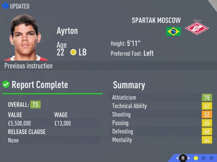 FIFA 20 Career Mode Hidden Gems: If you like attacking full-backs go for Ayrton