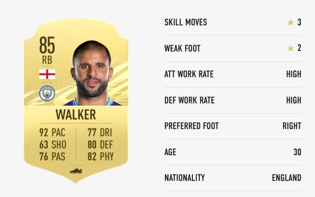 FIFA 21 fastest players: Kyle Walker