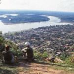 Vy över Rurrenabaque. Amazonas
