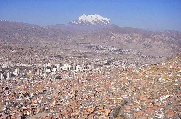 Vy över La Paz