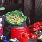 Cocablad säljs överallt! La Paz