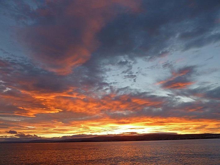 Solnedgång. Beaglessund